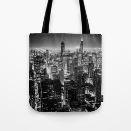 Chicago Skyline at Night Tote Bag