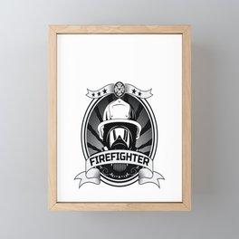 Retired But Forever A Firefighter At Heart For A Firefighter Framed Mini Art Print