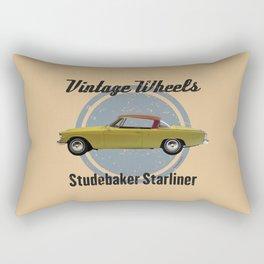 Vintage Wheels - Studebaker Starliner Rectangular Pillow