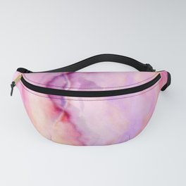 'Colors of Hope Rain Over Me' Abstract Watercolor Fanny Pack