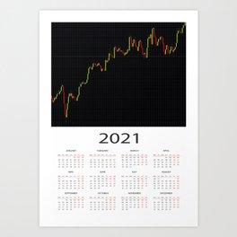 2021 Calendar Forex Art Print