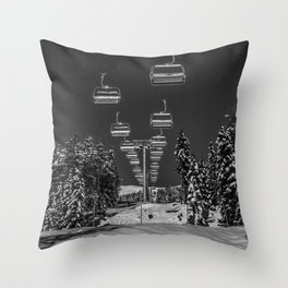 Chair Lift Off Throw Pillow