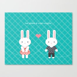 Bunny Couple Canvas Print