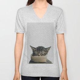 kitty digital painting Unisex V-Neck