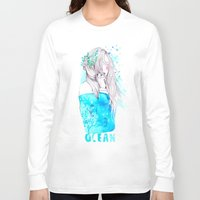 ocean Long Sleeve T-shirts featuring Ocean by Ariana Perez