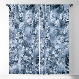 Winter Pine Forest Blackout Curtain