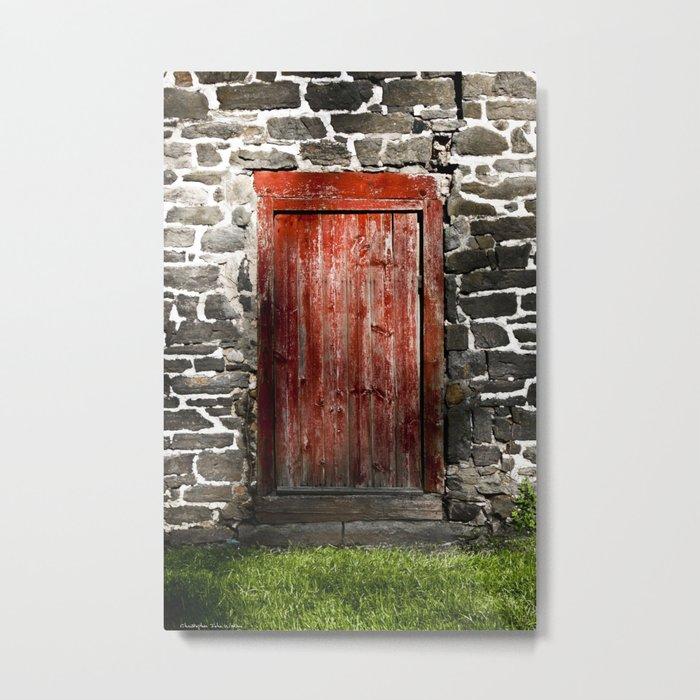 Enter the Farm Metal Print