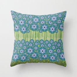 Haint - Flower fields H of Alphabet collection Throw Pillow