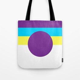 Purple Circle Tote Bag
