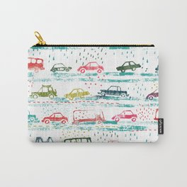 cars in the rain Carry-All Pouch