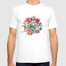 Colour Of Joy Mens Fitted Tee MEDIUM White