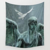 angel Wall Tapestries featuring Angel by Lucia