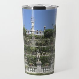 Gardens of Borromeo Palace on Isola Bella, Stresa,Italy. Travel Mug
