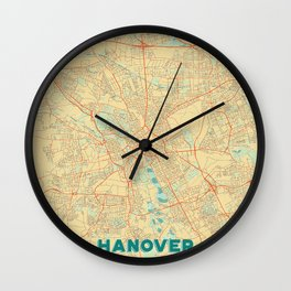Hanover Map Retro Wall Clock