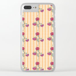 Charming Roses Clear iPhone Case