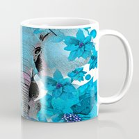 elephant Mugs featuring Elephant  by Saundra Myles