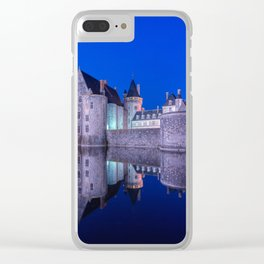Sully sur Loire at night, Loire valley, France. Clear iPhone Case