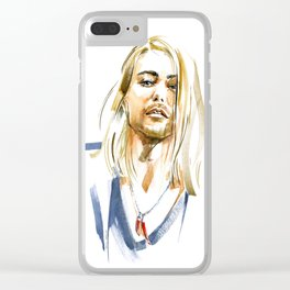 male portrait #2 Clear iPhone Case