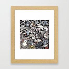 Sea gulls for bird lovers Framed Art Print