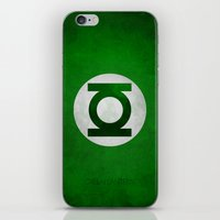 green lantern iPhone & iPod Skins featuring Green Lantern by whosyourdeddy