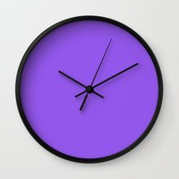 indigo Wall Clocks featuring Indigo by Julscela