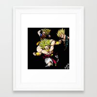 dragonball z Framed Art Prints featuring Broly Dragonball Z by bernardtime