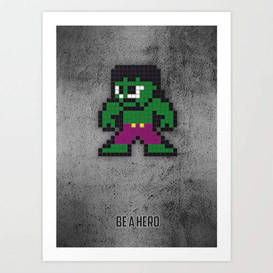 The green Monster Art Print