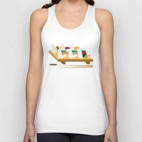 alpaca Tank Tops featuring Alpaca Sushi by Inappropriately Adorable