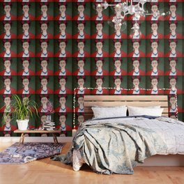 Frida Kahlo portrait with dalias Wallpaper