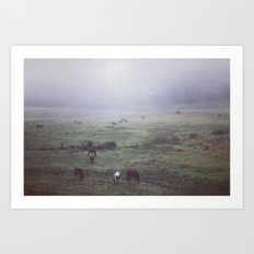 foggy days are my favorite days. Art Print