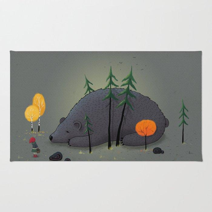 Blueberry Bear Rug