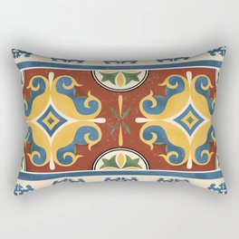 traditional Kazakh ornament Rectangular Pillow
