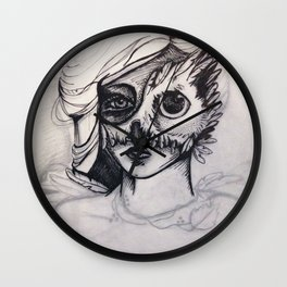 Night Mask (masque de nuit) Wall Clock