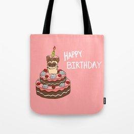 Happy BirthDay food  cake Tote Bag