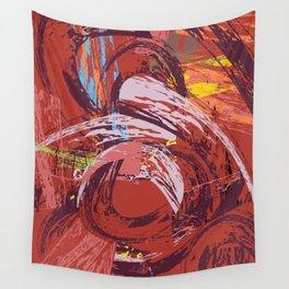 Red Bang Wall Tapestry