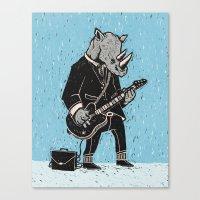rhino Canvas Prints featuring Rhino by Ronan Lynam