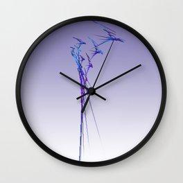 Purple Spikes Wall Clock