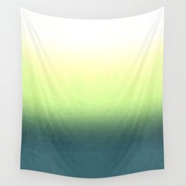 green , yellow , white , Ombre Wall Tapestry