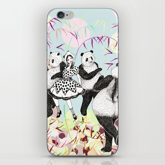 Panda Dance iPhone & iPod Skin