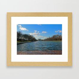 Reflecting Pool at the Lincoln Memorial Framed Art Print