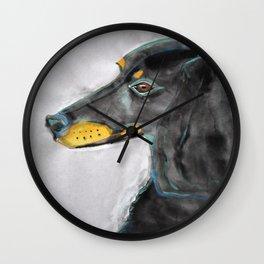 Dachshund Royality Wall Clock