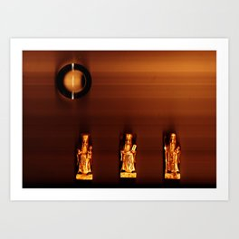 3 wise guys and a lense for a sun - JEAN-LOUIS MORAY  Art Print