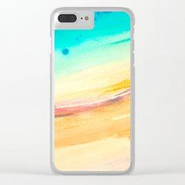 Seashore 1 Clear iPhone Case