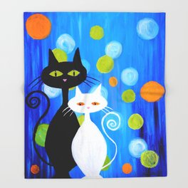 Fancy Cats Throw Blanket