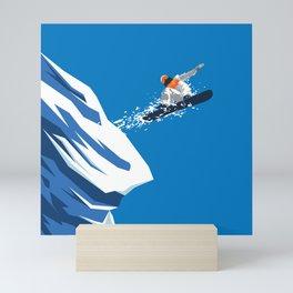 Snow Board Jump Mini Art Print
