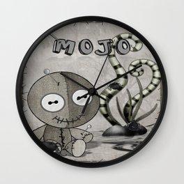 MOJO Gothic Voodoo Doll Folk Art Wall Clock