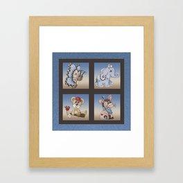 Baby Animals Framed Art Print