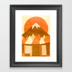 sunset reflections across the lake Framed Art Print