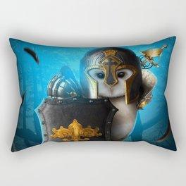 owl in the night Rectangular Pillow