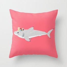 Cute White Throw Pillow